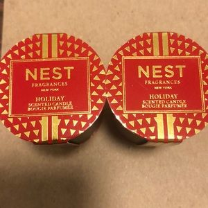NEST Fragrances Holiday Scented Candle 0.95oz x 2